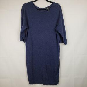 Monki Womens Sheath Sweater Dress Stretch Blue